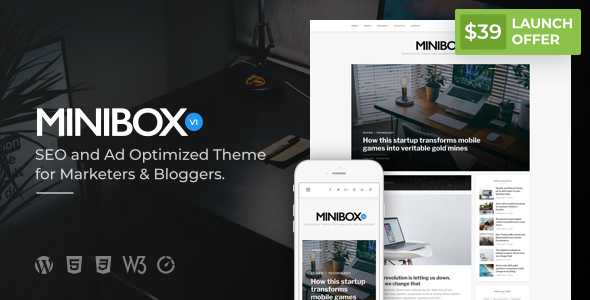 Image of Minibox | Optimized WordPress Blog Theme for Bloggers and Marketers