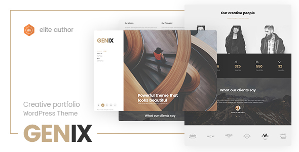 Image of Genix - Creative Portfolio WordPress Theme