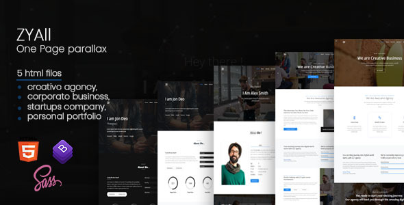 ZYAll – One Page Parallax