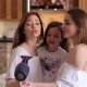 Three Sisters Sing in the Hair Dryer at Home