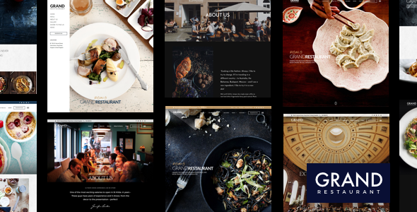 Grand Restaurant | Restaurant WordPress for Restaurant - Restaurants & Cafes Entertainment