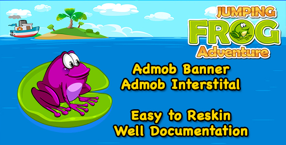 Jumping Frog Adventure + Easy To Reskin + Admob + Android Studio            Nulled