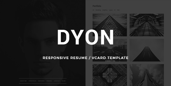 DYON - Simple vCard Resume Template
