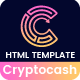Cryptocash - ICO & Cryptocurrency Landing Page HTML Template