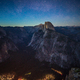 Starry Night above Half Dome and Yosemite Valley in Yosemite Nat - PhotoDune Item for Sale