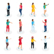 Isometric Teenagers Collection - GraphicRiver Item for Sale
