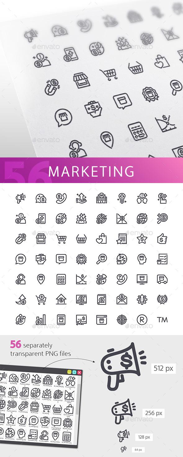 Marketing Line Icons Set - Business Icons