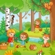Picnic in the Forest with Children - GraphicRiver Item for Sale