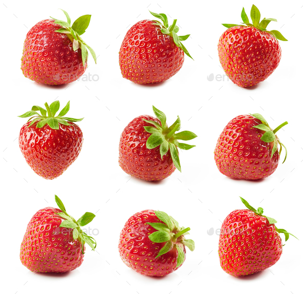 fresh red strawberries - Stock Photo - Images