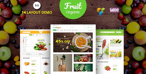 Fruit Shop - Organic Food, Natural RTL Responsive WooCommerce WordPress Theme