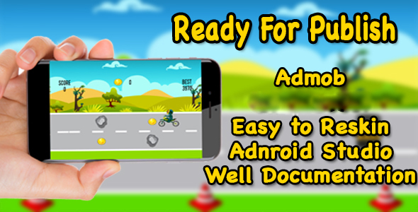 Bike Drive - Game For Kids - Endless Game - Android - CodeCanyon Item for Sale