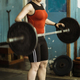 Female on weightlifting training - PhotoDune Item for Sale