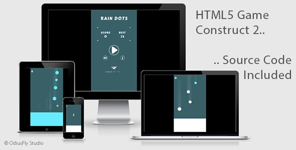 Rain Dots - HTML5 Game (Construct 2) - CodeCanyon Item for Sale