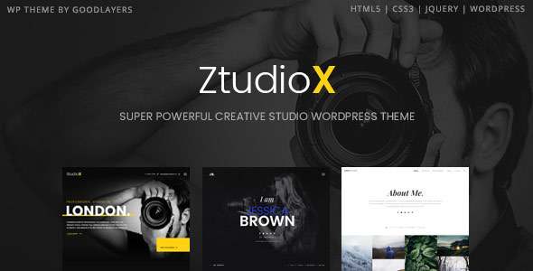 Ztudio X - Creative Studio Photography WordPress Theme For Photography (Studio X)