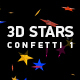 3D Stars Confetti 1 - VideoHive Item for Sale