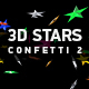 3D Stars Confetti 2 - VideoHive Item for Sale