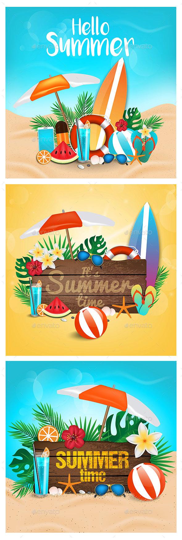 Hello Summer Sea Shore - Seasons Nature