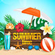 Hello Summer Sea Shore - GraphicRiver Item for Sale