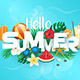 Hello Summer Typographic - GraphicRiver Item for Sale