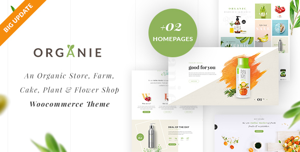 Organie - An Organic Store, Farm, Cake and Flower Shop WooCommerce Theme