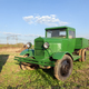 Vintage retro green soviet truck in the field - PhotoDune Item for Sale