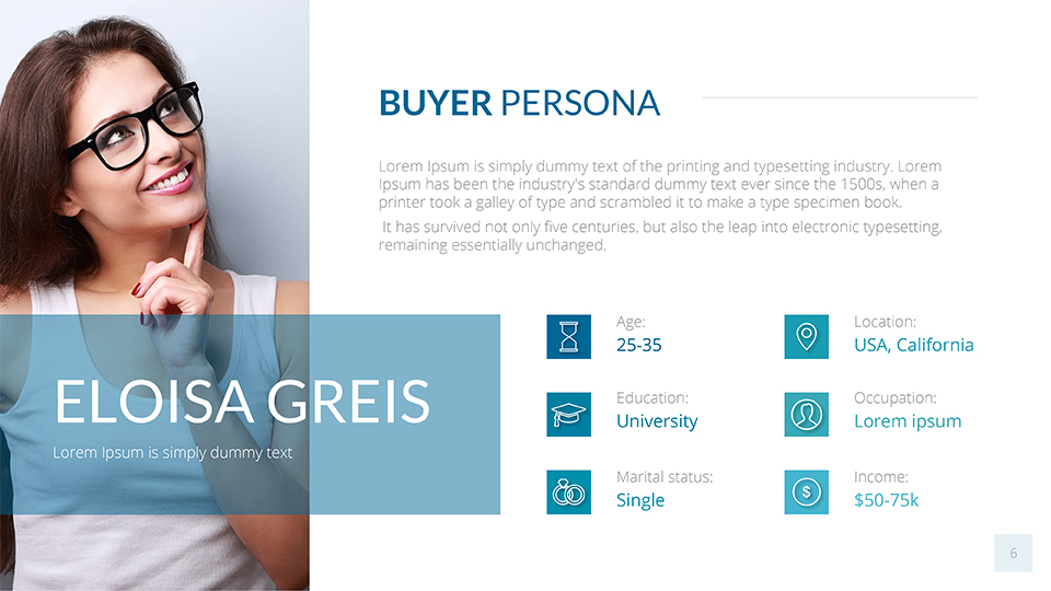 Buyer Persona Google Slides Template by SanaNik   GraphicRiver