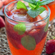 Homemade iced tea with strawberries and mint, vertical closeup - PhotoDune Item for Sale
