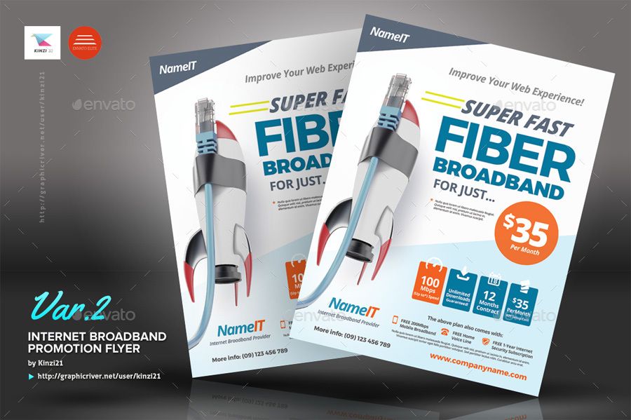 Internet Broadband Promotion Flyer Templates