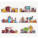 People Interests, Hobbies and Profession Icons - GraphicRiver Item for Sale