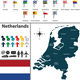 Map of Netherlands - GraphicRiver Item for Sale