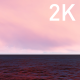 Pink Purple White Light Sky and Clouds over the Dark Ocean - VideoHive Item for Sale