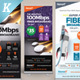 Internet Broadband Promotion Roll-up Banner Templates
