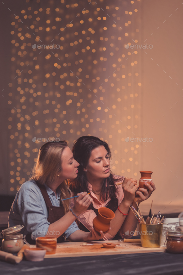 Young women at work - Stock Photo - Images