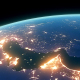 4K Earth Night Close Up High Detail Gulf of Persia - VideoHive Item for Sale