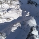 Aerial Shot of Snowy Mountain Peak - VideoHive Item for Sale