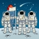 Tintamarresque Astronauts on Moon Pop Art Vector - GraphicRiver Item for Sale