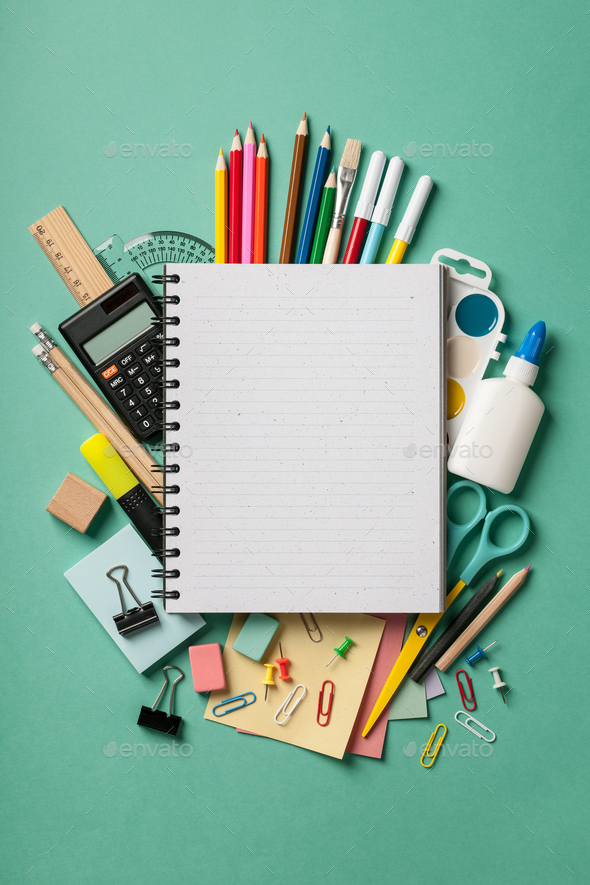 School supplies background - Stock Photo - Images