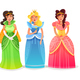 Princesses Cartoon Set - GraphicRiver Item for Sale