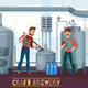 Craft Brewery Cartoon Illustration