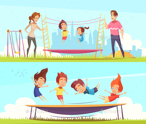 Family Attractions Banners Collection - Sports/Activity Conceptual