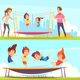 Family Attractions Banners Collection - GraphicRiver Item for Sale