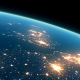 4K Earth Night Close Up High Detail Northeast Europe and UK - VideoHive Item for Sale