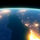 4K Earth Night Close Up High Detail Red Sea Saudi Arabia and Egypt - VideoHive Item for Sale