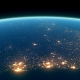 4K Earth Night Close Up High Detail Brazil Coast - VideoHive Item for Sale
