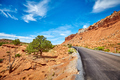 Picturesque road in the Capitol Reef National Park.