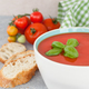 Homemade tomato soup with fresh basil - PhotoDune Item for Sale