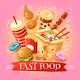 Fast Food Illustration