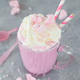 Pink hot chocolate with marshmallows - PhotoDune Item for Sale