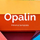 Opalin Creative and Minimal Powerpoint Template - GraphicRiver Item for Sale