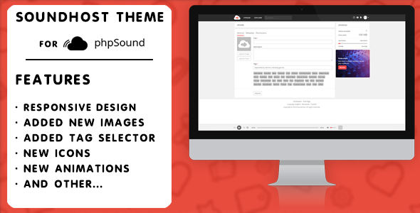 SoundHost Theme For phpSound            Nulled